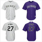 Men's #27 Trevor Story Colorado Rockies Cool Base Player Jersey Pick Color/Size on Ebay