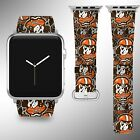 Cleveland Browns Apple Watch Band 38 40 42 44 mm Fabric Leather Strap 1 on eBay