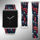 Houston Texans Apple Watch Band 38 40 42 44 mm Fabric Leather Strap 1 on eBay