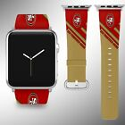 San Francisco 49ers Apple Watch Band 38 40 42 44 mm Fabric Leather Strap 2 on eBay