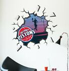 Detroit Pistons Broken Wall Decal NBA Logo Sport Wall Hole Home Room Decor C1539 on eBay