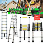 3.8M 5M Aluminum Telescopic Collapsible Loft Folding Hatch Attic Stairs Ladder