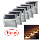 LED Solar Powered Stainless Steel Fence & Path Lights Home Security Outdoor Lamp