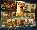 2017 Topps Star Wars Journey to the Last Jedi BLACK Parallel Cards YOU PICK-1 image
