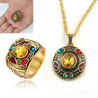 Thanos Infinity Stones Necklace Metal Pendant Chain POWER RING Marvel Avengers image