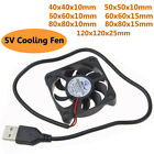 DC 5V USB Brushless Sleeve Bearing Fen Quiet Computer PC Cooler Cooling Fan lot