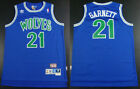 New Men's Minnesota Timberwolves #21 Kevin Garnett Basketball jersey mesh Green on eBay