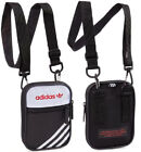 adidas Originals Linear Black/White/Red Unisex Festival Pouch Shoulder Bag *NEW