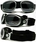 Shatterproof Smoke/Clear/Yellow Motorcycle/Paintball Padded Goggles 466