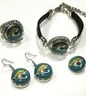 Jacksonville Jaguars NFL Snap Jewelry snap, stretch Ring, Earrings or Bracelet on eBay