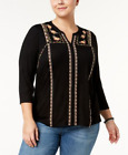 Style & Co Womens Plus Sizes Knit Embroidered Pullover Top New With Tags *d