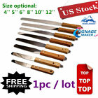 Wood Handle Screen Ink Spatula Screen Print Stainless steel Blade Variation Size