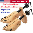 Professional 2-way Wooden Shoe Stretcher for Men/Women Size 4.5-12