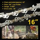 "16"" Chainsaw Saw Chain 3/8""LP .050 gauge 56DL Drive Links Spare Replacement US"