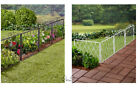 Vintage Scrolled Garden Fence Metal 3 Sections Sturdy White Or Black Lawn Yard