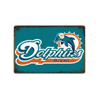 Miami Dolphins Tin Metal Sign Rustic Advertising Wall Art decor on eBay