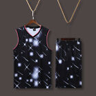 Starry Blank Running Basketball Game Jersey Kit Uniforms Sport Suits Customize