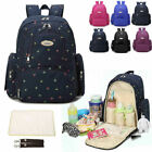 Water Resistant Baby Diaper Bag Nappy Backpack Changing bag Changing Pad Travel