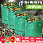 2/4X Garden Waste Bag 72 Gallons Leaf Container Heavy Duty Reusable Sack Bin Bag