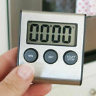 LCD Digital Kitchen Cooking Timer Count-Down Up Clock Loud Alarm Stainless Steel