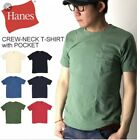 Hanes Mens Tag Free Pocket T shirts 8 Pack Size S 3XL Assorted Colors Cant Pick
