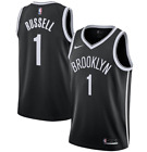 D'Angelo Russell #1 Brooklyn Nets Men's Black Icon Edition Jersey