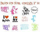 IRON ON VINYL DECAL FOR ONESIS /BABY BID/ BABY SHOWER  3*   READY TO APPLY