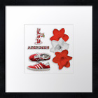 "Aberdeen FC Print or canvas print (39)  Example shown is 10"" framed print £21.50"