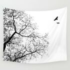 Wall Tapestry Wall Hanging Printed USA Design 24 tree bird black white L.Dumas