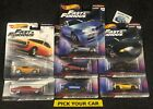 Hot Wheels Car Culture Singles-Pick your CAR-All series - Fast and Furious