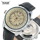 JARAGAR Leather Band Mechanical Automatic Watches Men's Wrist Watch Military image