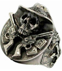 *NEW* CONFEDERATE PISTOL TOTING SOUTHERN SOLDER SKULL RING SALE!