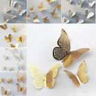 12pcs 3d Butterfly Wall Stickers Art Decals Home Room Decorations Decor Kids Uk