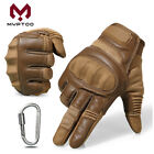 Touch Screen Tactical Motorcycle Leather Full Finger Gloves Motorbike Bikes Moto
