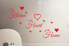 The Kitchen Is The Heart Of The Home Vinyl Wall Quote Sticker Decal Wall Art