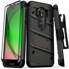 Moto G7 Play Case, Zizo Bolt Series with Kickstand Screen Protector Holster