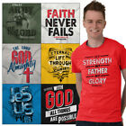 Christian Tee Shirt Church T Shirts For Mens Faith Religious Gifts TShirts Tees image