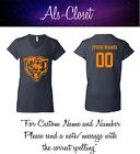 Chicago Bears Logo Football Short Sleeve V Neck Shirt with Custom Name $27.99 USD on eBay