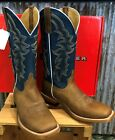HorsePower Men's Pecan Barking Iron Western Boot - Wide Square Toe - HP1836