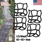 1/2/4Pcs Driveway Paving Pavement Mold Concrete Stepping Stone Maker Mould Paver image