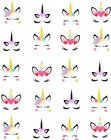 Unicorn Faces Waterslide /Water Transfer Nail Decals/Nail art