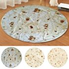 Burrito Blanket Flour Tortilla Round Thick Flannel Fleece Blanket for Adult-kids image