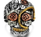 TERMINATOR STEAMPUNK SKULL RING VERY NICE DETAIL! GOING OUT OF BUSINESS SALE!