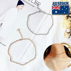 Genuine 18k Gold/white Gold Plated Ball Link Chain Choker Adjustable Necklace