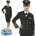 Adult WW2 1940s Navy Captain Officer Costume Mens Womens Fancy Dress Outfit