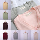 Japanese Girls JK Uniform V neck Knitted Vest Cosplay Short Sweaters Casual Tops