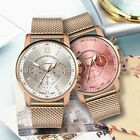 Luxury Quartz Sport Military Stainless Steel Dial Leather Band Wrist Watch image
