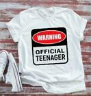 Birthday, Warning Official Teenager, White Short Sleeve T-shirt image