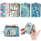 RFID Blocking Credit Card Holder Leather Wallet Case Sleeve with ID Window