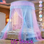 Bed King Tent Curtain Netting Ceiling-Mounted Princess Mosquito Net Full Canopy image
